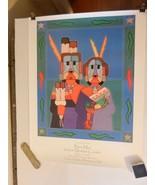 Bien Muir Marketplace Sandia Reservation Song of the Harvest Print 1999 - $14.85