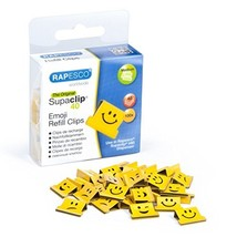 Rapesco Supaclip 40 Binder Clip Refill Pack, Emojis, Pack of 100 Clips (... - $12.75
