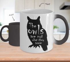 Twin Peaks Color Change Mug Owls Not What They Seem Magic Morph Coffee C... - $24.75