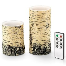 Avon Faux Birch LED candles with Remote  - $29.70