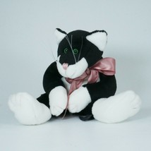 Boyds Bears Archive Collection Black White Cat 10 inch Jointed JJ Bean p... - $15.85