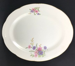 Vintage Homer Laughlin Made in the USA Floral Ivory D51N6 13.75'' Oval P... - $45.53