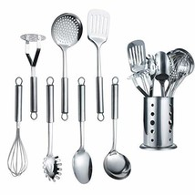 Berglander Stainless Steel Kitchen Utensil 7 Piece With 1 Stand, Slotted... - €20,16 EUR