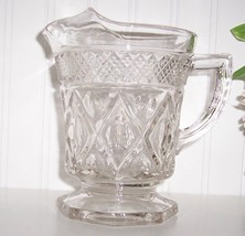 Imperial Glass Ohio CAPE COD CLEAR 16 OZ ICE LIPPED MILK PITCHER - $19.79