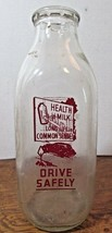 Vintage Square  Quart Milk Bottle -UNITIED DAIRIES SUNBURY PA - $23.38