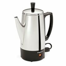 Percolador de café eléctrico Bote de acero inoxidable de 6 tazas portátil - $42.16