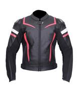 QASTAN Men's New Superb Black Motorbike CE Protectors Leather Jacket QMMJ10 - $159.20+