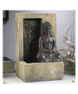 Meditating Buddha in Lotus Position Indoor Waterfall Fountain - $74.74