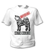 Akita - official walker b - NEW COTTON WHITE TSHIRT - $19.59