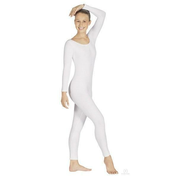Primary image for Body Wrappers MT217 Adult Size Medium (8-10) White Full Body Long Sleeve Unitard