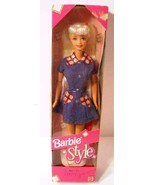 Barbie Style New In Box Original 1997 Doll by Mattel 18219 Denim Dress H... - $26.73