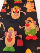 VTG Mr Potatohead Hasbro Ralph Marlin RM Style 1995 100% Silk Classic Neck Tie image 2