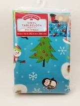 """Holiday Time Trucks, Trees & Penguins Rectangle Vinyl Tablecloth 60"""" x 102"""" - $12.46"""