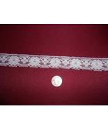 """1 1/4"""" flat cluny style white lace (20 yards) - $5.00"""