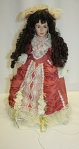 """19"""" Porcelain Doll Black Hair Brown Eyes CATHAY COLLECTION  - $19.79"""