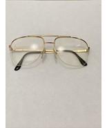 VTG New Europa Gold Tortoise Pilot Boston Flex Hinge Metal Eyeglasses 58... - $45.00