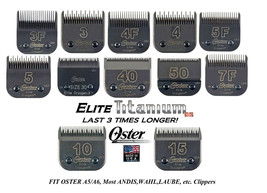 Oster A5 Titanium Elite Cryogen X Blade Fits Andis Agc Bdc,Many Wahl Km Clippers - $37.94+