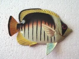 Tropical Fish Wall Plaque Tiki Bar Beach Pool Nautical Decor Size 6 in T... - $9.49