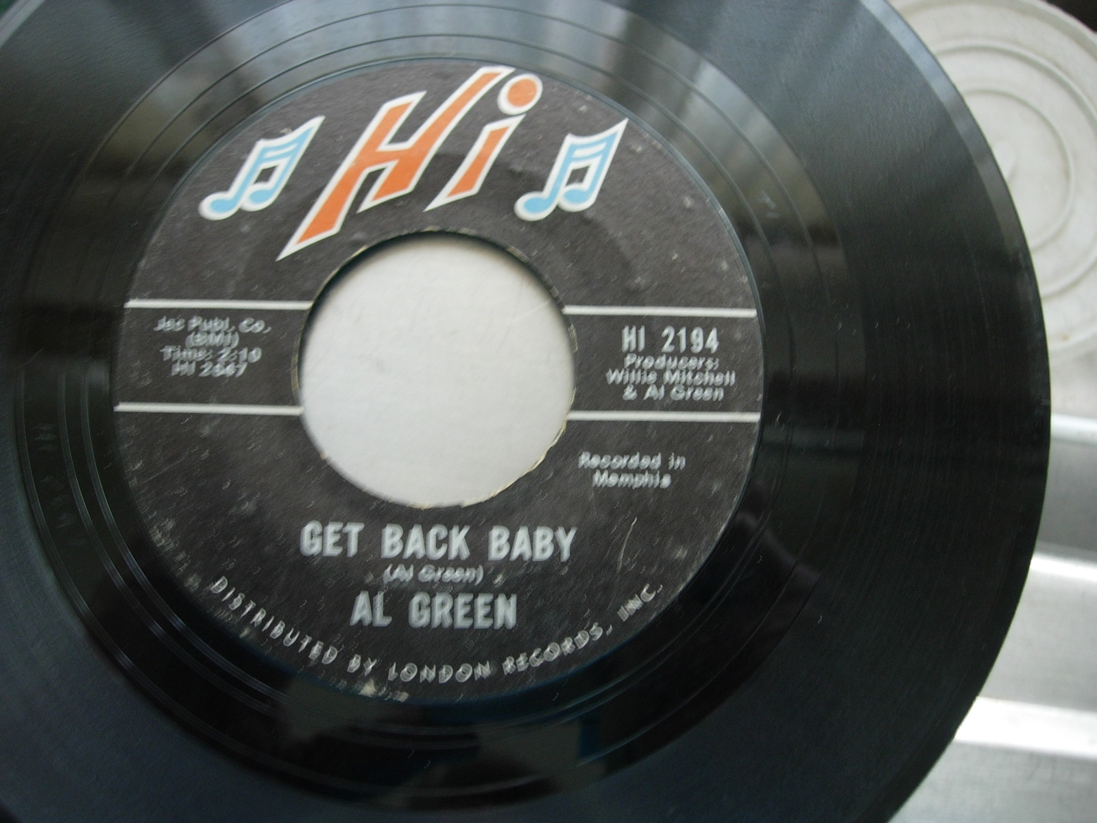 Al Green - Tired of Being Alone / Get Back Baby - HI Records 2194