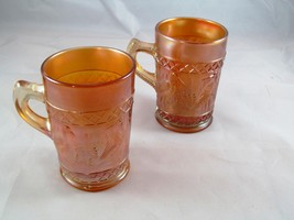 "Dugan Diamond Stork & Rushes Mugs (Set of 2) - Marigold - 4"" Tall - $37.40"