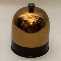 Bakelite Base Vintage Cigarette Humidor Gold Chrome Dome Pat Jan 1935 - $64.29