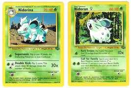 Nidorina 40/64 & Nidoran 57/64 Jungle Set Pokémon Cards NM - $1.50