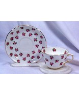 Hammersley 1933 Antique Rose Bud Tea Cup And Saucer Set - $17.32