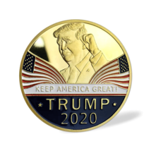 Keep America Great 2020 Donald Trump Commemorative Gold Coin American President  image 4
