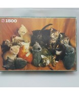 """Jumbo Kittens Puzzle 1500 Pieces Complete 35.5"""" x 23.5"""" Cats - $25.87"""
