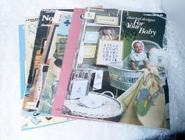 Cross Stitch Collection of 9 Booklets with Patterns - FREE SHIPPING! - $14.01