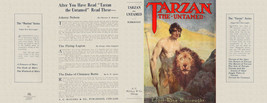 Edgar Rice Burroughs TARZAN THE UNTAMED facsimile jacket  for 1st McClur... - $21.56