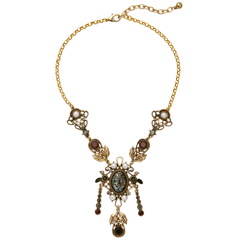 Kpop alloy geometric vintage necklaces pendants halloween metal jewelry from india 2