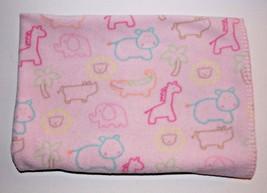 Circo Pink Animal Blanket 40x30 Girls Baby Security Lovey Giraffe Hippo ... - $384,16 MXN
