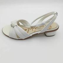 Sam Edelman Womens Ingrid Ankle Strap Sandals White Block Heels Leather 8.5 M - $39.59