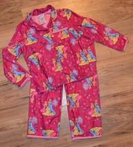 Disney Princess Shirt & Pants 2 Piece Hot Pink Pajamas Set ~ Bell,Cinder... - $12.19
