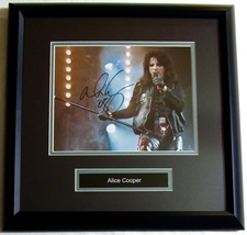 ALICE COOPER AUTOGRAPHED HAND SIGNED 8x10 PHOTO DOUBLE MATTED & FRAMED w... - $149.99