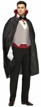 COMPLETE VAMPIRE DRACULA ADULT HALLOWEEN COSTUME SIZE STANDARD - $14.79