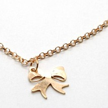 Silver Bracelet 925 Laminated in Rose Gold le Favole with Bow AG-901-BR-52 image 2