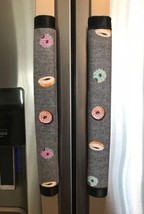 Refrigerator Door Handle Covers Set of Two Assorted Donuts Theme 12L X 4.5W - $11.99