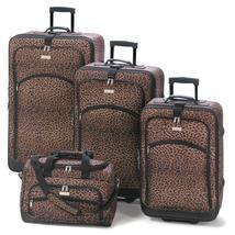 Leopard Print Luggage Ensemble - $289.00