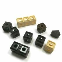 Fisher Price 2008 Trio Castle Building Black Bricks Replace Parts Misc 9pc block - $4.94