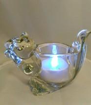 VTG AVON Crystal Glass SQUIRREL Votive Tea Light Candle Holder + Free Ca... - $9.49