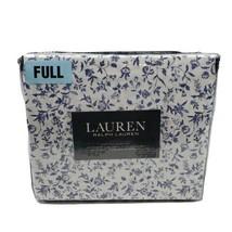 Lauren Ralph Lauren 4 PC Full Sheet Set Floral Blue White Flowers - $80.95