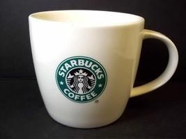 Starbucks bone china coffee mug white green siren logo 2008 12 oz - $11.98