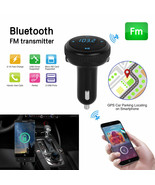 Bluetooth 4.2 car Locator FM transmitter wireless radio adapter USB Char... - $35.99