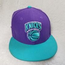 Knicks NBA new Era Hardwood classic Snapback lid aqua blue purple medium large - $17.33
