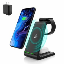 Wireless Charging Stand Muleug 3 in 1 Wireless Charger Charging Station ... - $64.93