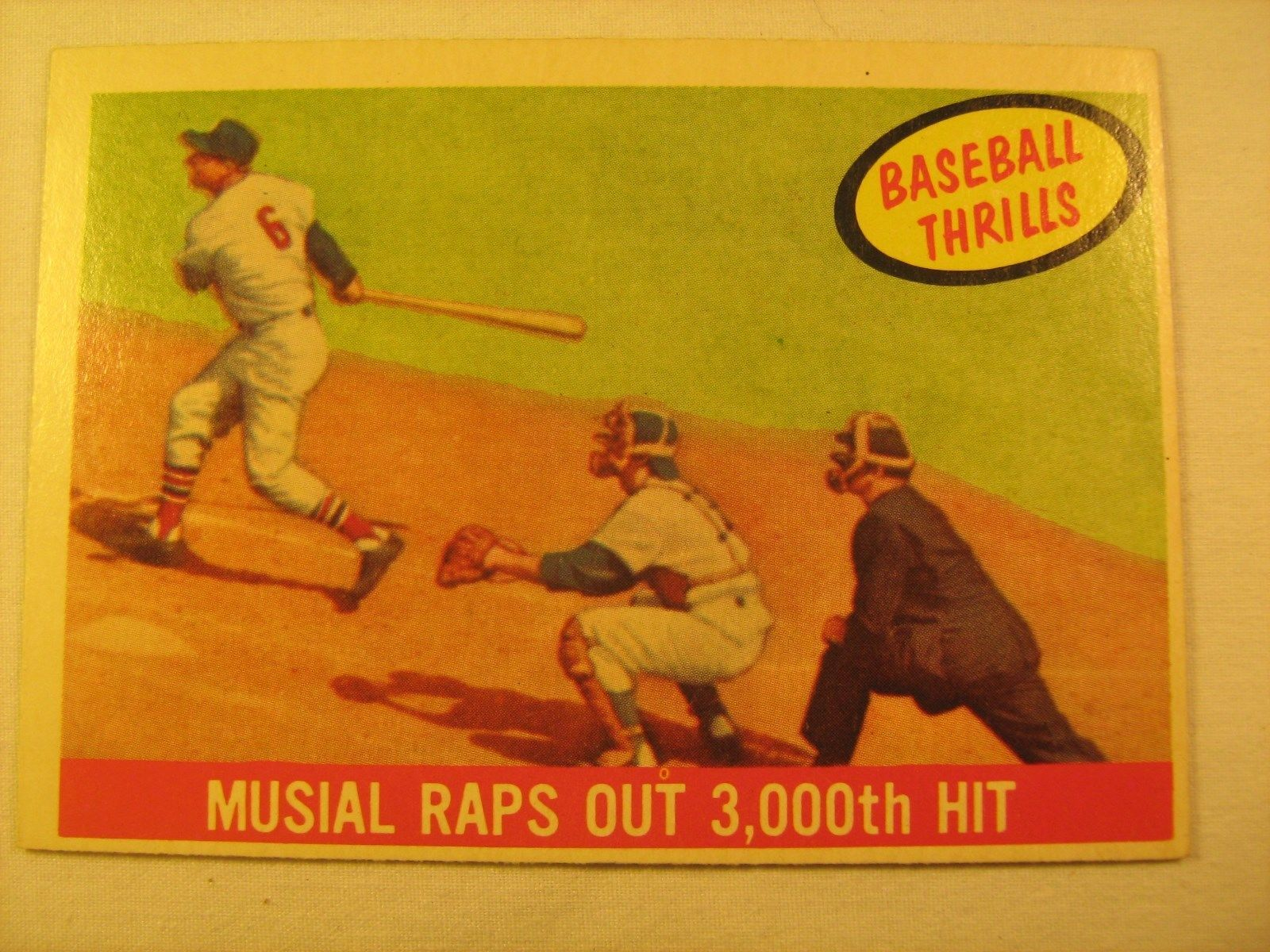 Primary image for MLB Topps Baseball Card 1959 MUSIAL RAP OUT 3,000th HIT #470 Great [b5e6]