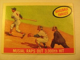 Mlb Topps Baseball Card 1959 Musial Rap Out 3,000th Hit #470 Great [b5e6] - $11.16