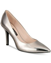 Nine West Women's FLAX Leather Pointed Toe Classic Pumps, Silver 1, Size... - $58.80